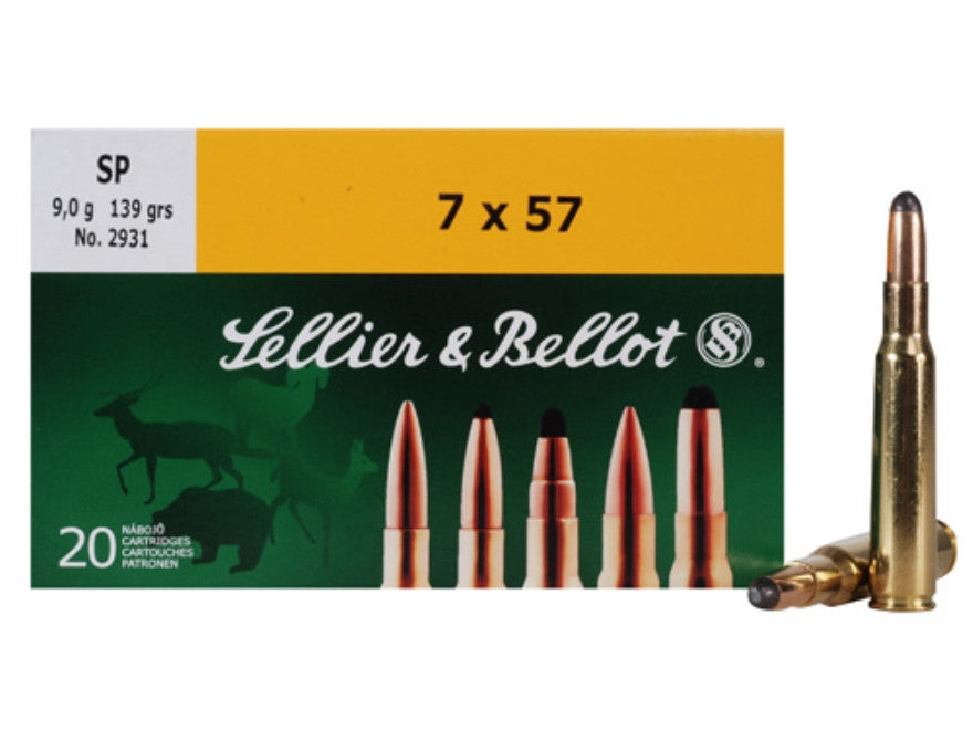 Sellier & Bellot 7x57 139 Grain Soft Point (20pk)