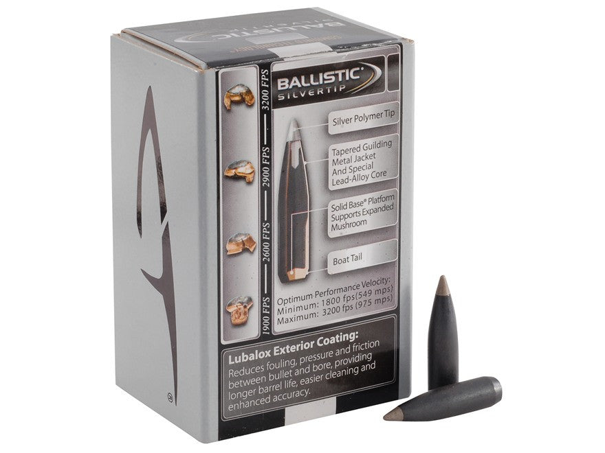 Nosler Combined Technology Ballistic Silvertip Hunting Bullets 30 Caliber (308 Diameter) 180 Grain Boat Tail  (50pk)