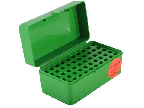 MTM Flip-Top Ammo Box 22 Hornet, 223 Remington, 30 Carbine 50-Round