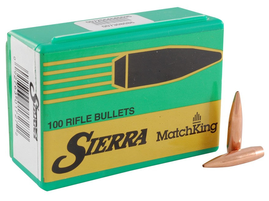 Sierra MatchKing Bullets 264 Caliber, 6.5mm (264 Diameter) 123 Grain Jacketed Hollow Point Boat Tail (100pk)