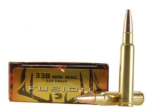 Federal Fusion Ammunition 338 Winchester Magnum 225 Grain Spitzer Boat Tail (20pk)