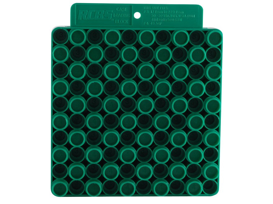 RCBS Universal Loading Block / Reloading Tray 50-Round Plastic Green (9452)