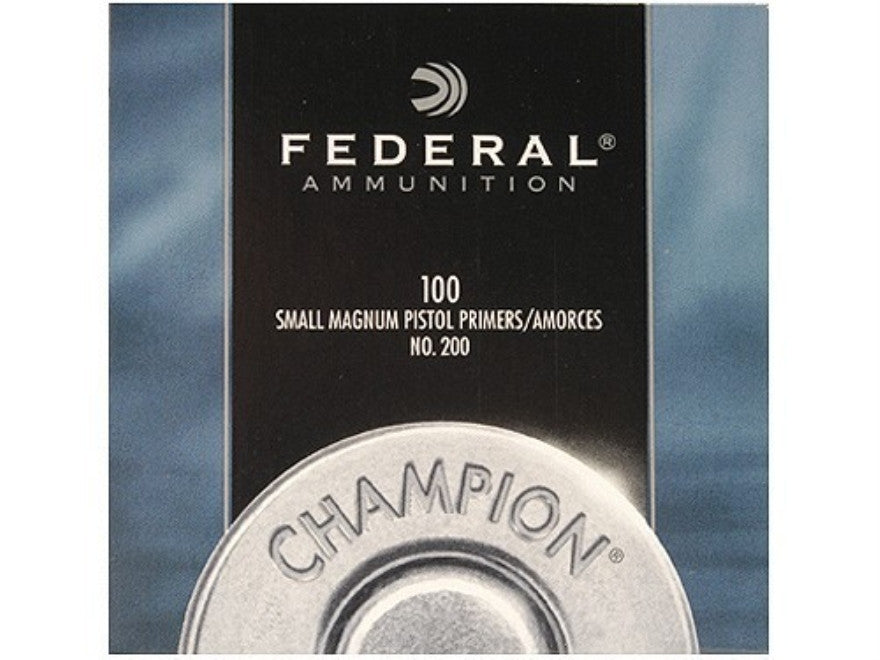Federal Small Pistol Magnum Primers #200 (100pk)