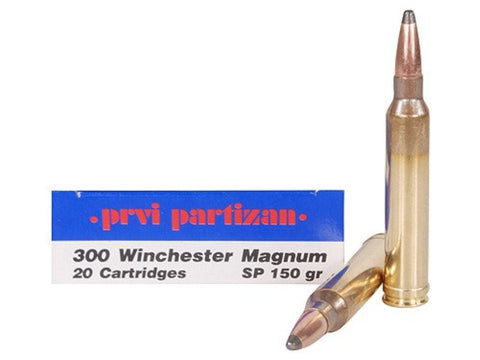 Prvi Partizan PPU Ammunition 300 Winchester Magnum 150 Grain Soft Point (20pk) (HR300A)