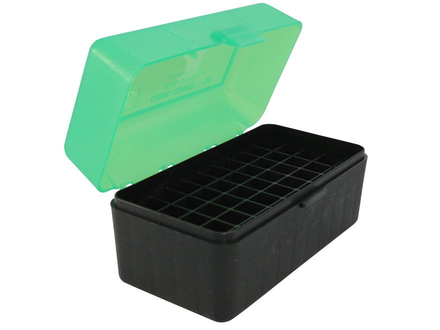 MTM Flip-Top Ammo Box 22-250 Remington, 243 Winchester, 308 Winchester 50-Round