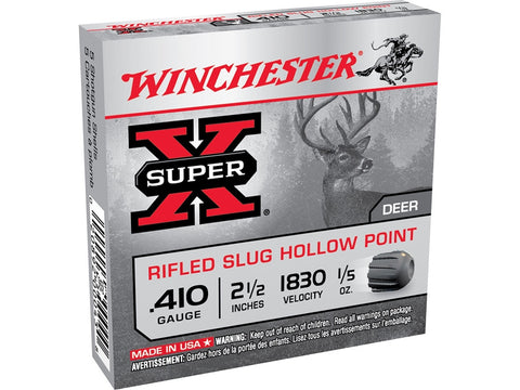 "Winchester Super-X Ammunition 410 Bore 2-1/2"" 1/5 oz Rifled Slug (5pk)"