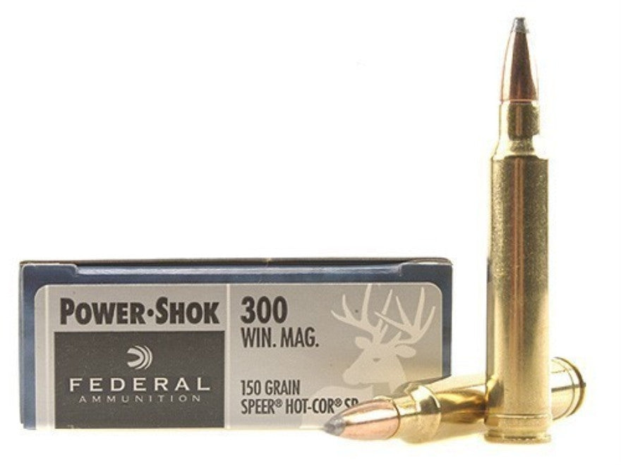Federal Power-Shok Ammunition 300 Winchester Magnum 150 Grain Speer Hot-Cor Soft Point (20pk)