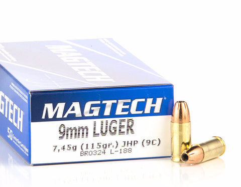 Magtech 9mm Luger 115 Grain Jacketed Hollow Point (50pk)
