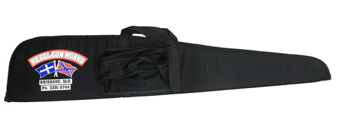 Rebel Gun Works Black Soft Gun Bag with Pocket 48""