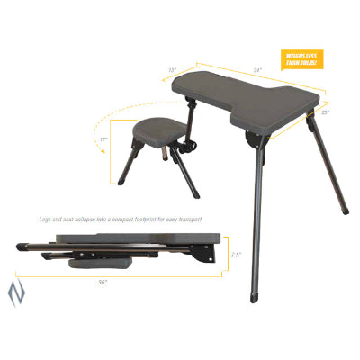 "Caldwell Stable Table Lite Shooting Rest (1084745) - <font color=""red"">NOT IN STOCK</font>"