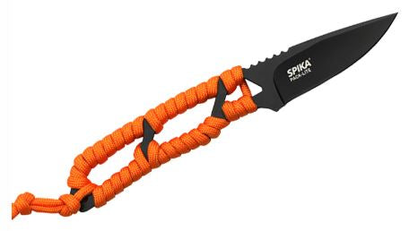 Spika Pack Light Fixed Blade Black with Orange Paracord (SPL-113)