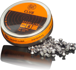 RWS 177 Cal Air Pellets - Club 0.45g (500pk)