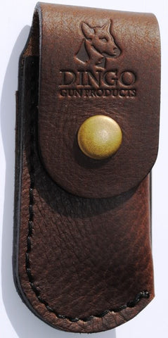 "Dingo Leather Knife Pouch Medium (4"" - 4.5"" Knives) Horizontal Brown"