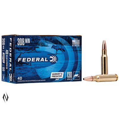 Federal  Ammunition 308 Win 130 Grain Speer Hollow Point AE Varmint (40pk) FAE308VP
