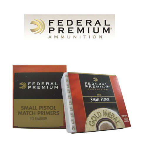 Federal Premium Gold Medal Small Pistol Match Primers #GM100M (100pk)