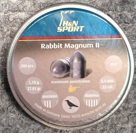 H&N Rabbit Magnum II 22 Cal Pellets 1,64g / 25.31gr >40J for PCP Rifles ONLY (200pk)