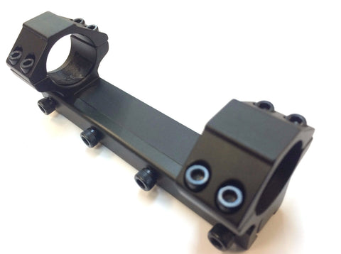 "Phoenix Rings - 3/8"" Dovetail Rimfire 1"" Medium with 4 3/4"" Long Heavy Duty Air Gun Rail Aluminum"