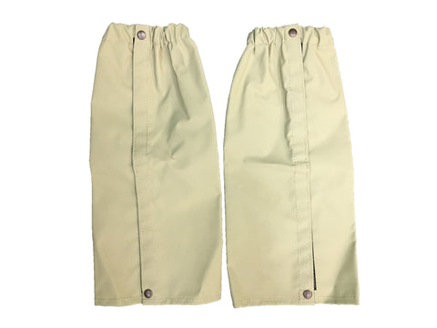 """Ripper"" Canvas Gaiters Knee High with Velcro and Buttons Large"