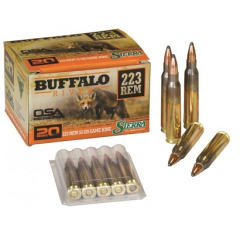 Buffalo River Ammunition 223 Remington 55 Grain Sierra Gameking (20pk)