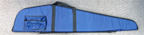 Aussie Sports Blue Soft Double Gun Bag Extra High with Pocket 46""
