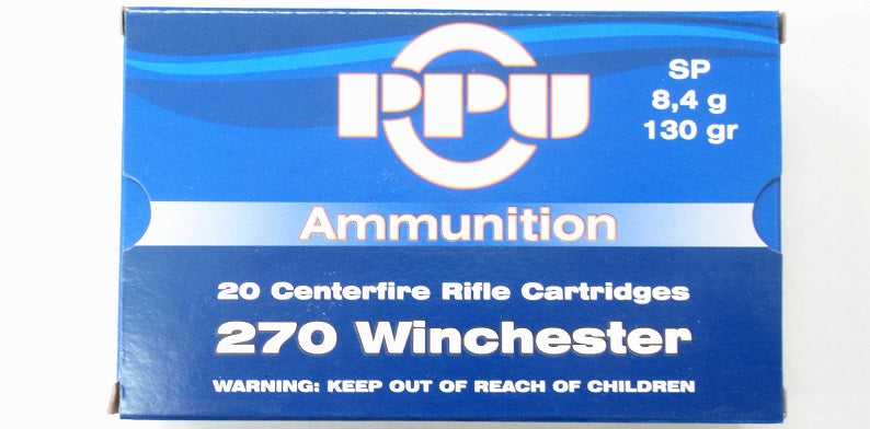 Prvi Partizan PPU Ammunition 270 Winchester 130 Grain Soft Point (20pk)