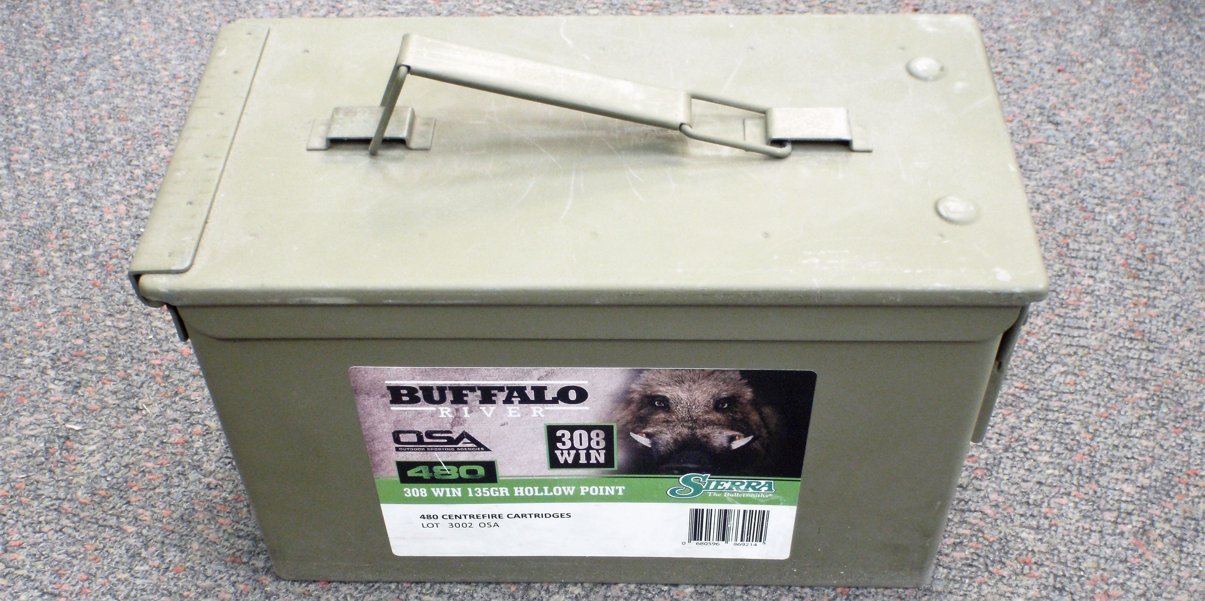 Buffalo River Ammunition 308 Winchester 135 Grain Gameking Hollow Point ( TIN of 480 Rounds )