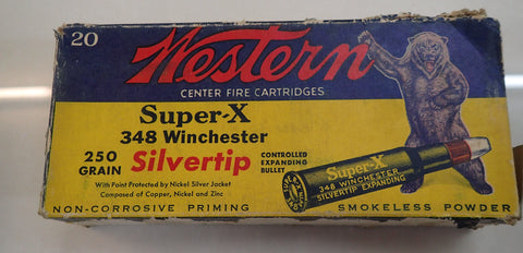 Collectors Ammunition WINCHESTER Super X 348 Winchester 250 Gr ST Cartridges 20 pack (CC348WL)