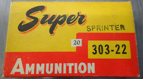 Super 303-22 Sprinter 45 Gr SP Cartridges 20 pack (CCS30322)