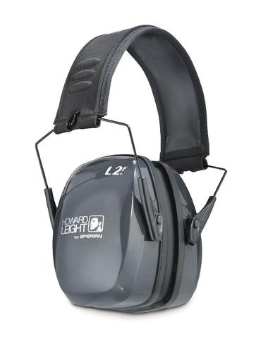 Howard Leight Leightning L2F Black Metal Headband Folding Earmuffs