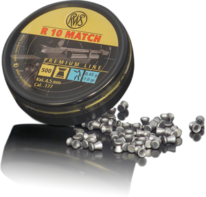 RWS 177 Cal Air Pellets - R10 Match (.451)4.0gr / 0.45g(500pk) (2315443)