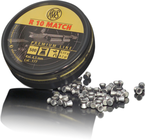 RWS 177 Cal Air Pellets - R10 Match (4.50) 8.2gr / 0.53g (500pk)