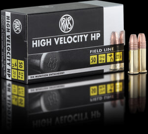 RWS Ammunition High Velocity 22 Long Rifle (22LR) 40 Grain Hollow Point (50pk)