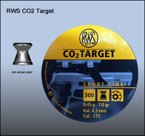 RWS 177 Cal Air Pellets - CO2 Target 0.45g (500pk)