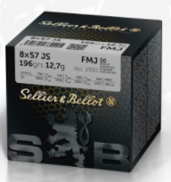 Sellier & Bellot 8x57 JS Mauser 196 Grain Full Metal Jacket (50pk)