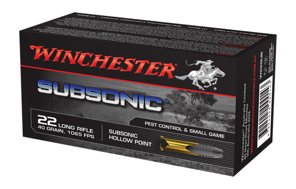 Winchester Subsonic Ammunition 22 Long Rifle 40 Grain