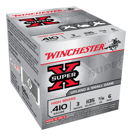 "Winchester Super-X Ammunition 410 Bore 3"" 11/16oz #6 Shot (25pk)"