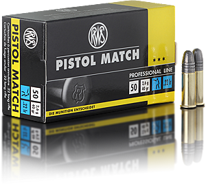 RWS Ammunition Pistol Match 22 Long Rifle 40 Grain Solid Point (50pk)
