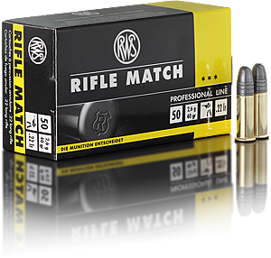 RWS Ammunition Rifle Match 22 Long Rifle 40 Grain Solid Point (50pk)