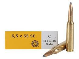 Sellier & Bellot 6.5x55 Swedish Mauser 131 Grain Soft Point (20pk)