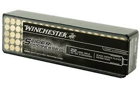 Winchester Super Suppressed Ammunition 22 Long Rifle (22LR) 45 Grain Black Copper Plated Round Nose (RN) (100pk)