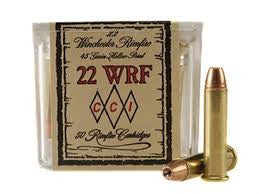 CCI Ammunition 22 Winchester Rimfire (WRF) (22Mag) 45 Grain Jacketed Hollow Point (JHP) (50pk)
