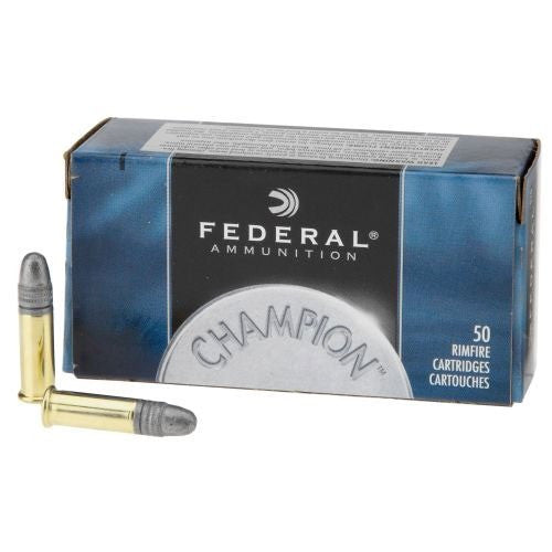 Federal Champion Ammunition 22 Long Rifle (22LR) Standard Velocity Solid Point (50pk)