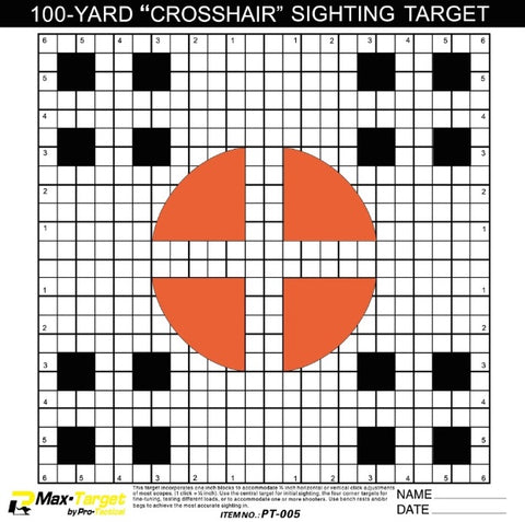 Pro-Tactical Max Target Sighting in paper Target 20pk (PT-005)