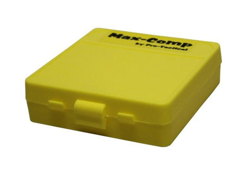 Pro-Tactical Max Comp Ammo Box Small Pistol 100 Round Yellow Fits 380 ACP, 9mm Luger
