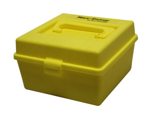 Pro-Tactical Max Comp Ammo Box Medium and Large Rifle 100 Round Yellow Fits 22-250 Remington, 243 Winchester, 308 Winchester
