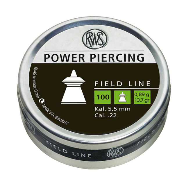 RWS Power Piercing 0,81g/13.7gr  22 Cal Air Pellets (100pk) (2318603)