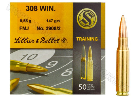 Sellier & Bellot 308 Winchester 147 Grain Full Metal Jacket (50pk)