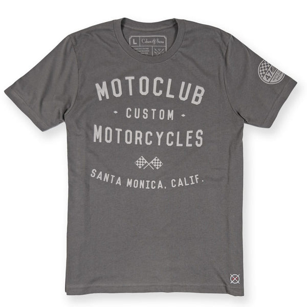 Cohen and Sons - Grey Mens Motorcycle Tee Shirt