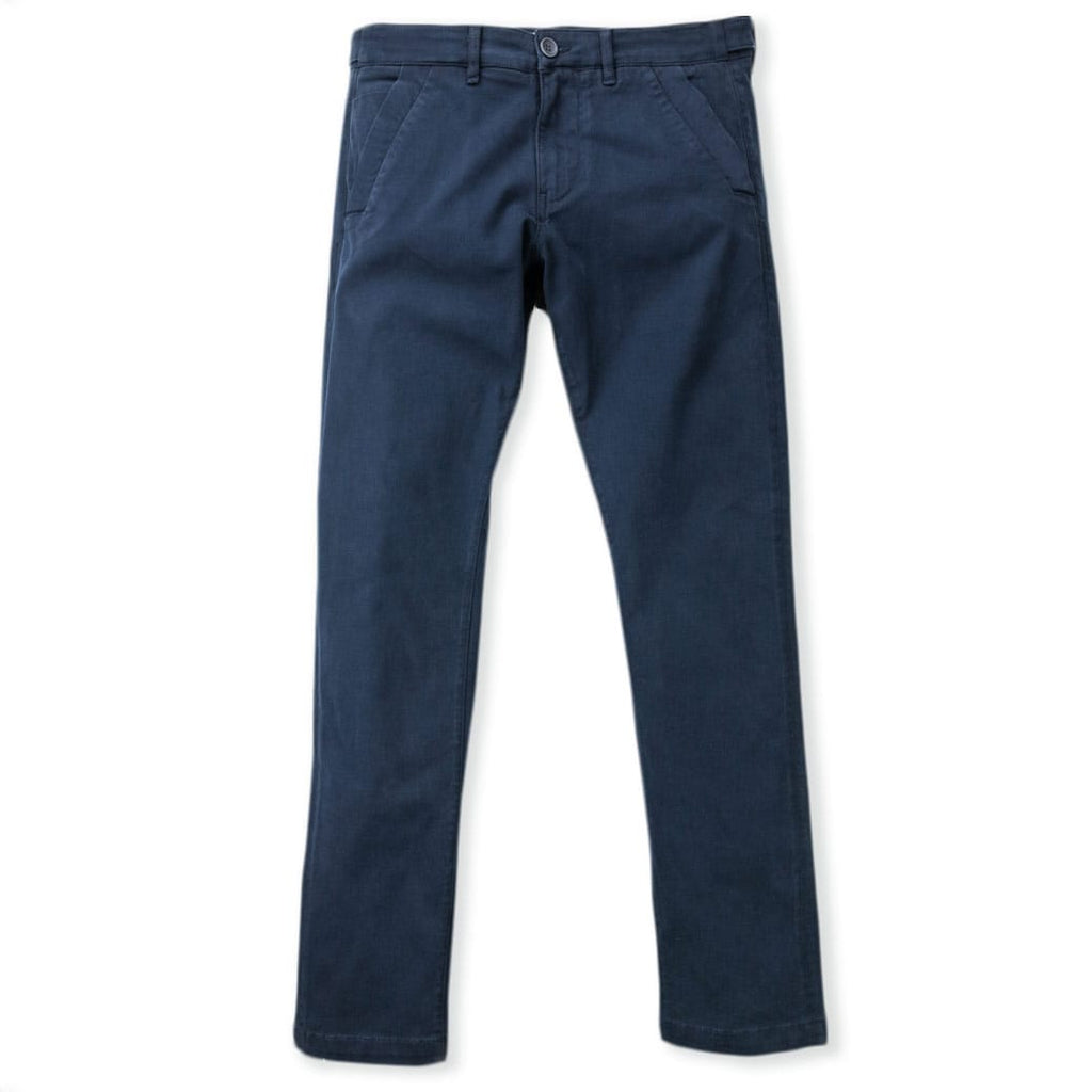 Navy slim fit stretch chino
