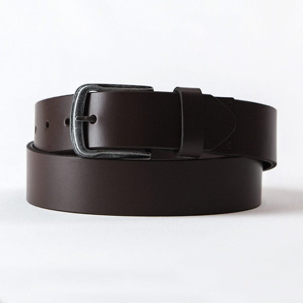 Jacks Brown Top Grain Leather Belt